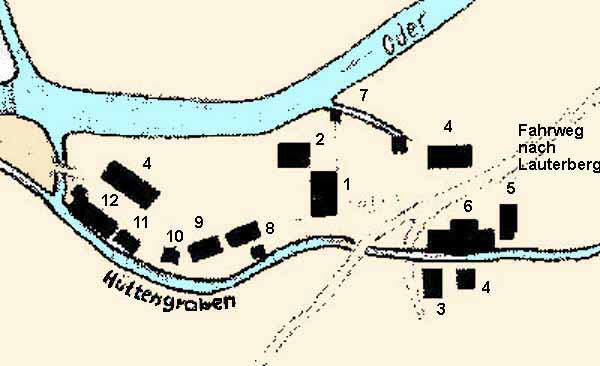 General plan of the Königshütte around 1740
